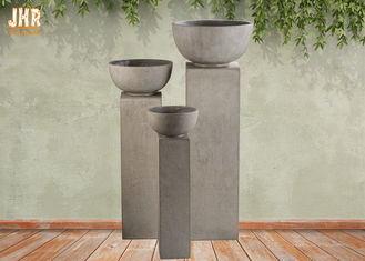 Fiberclay Garden Pots Clay Flower Pots With Pedestal Outdoor Planters Large Planters Garden Planters